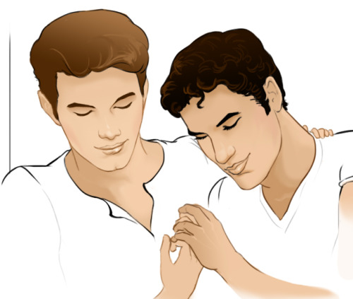 Random Kurt/Blaine moment, just trying out a different style of coloring…