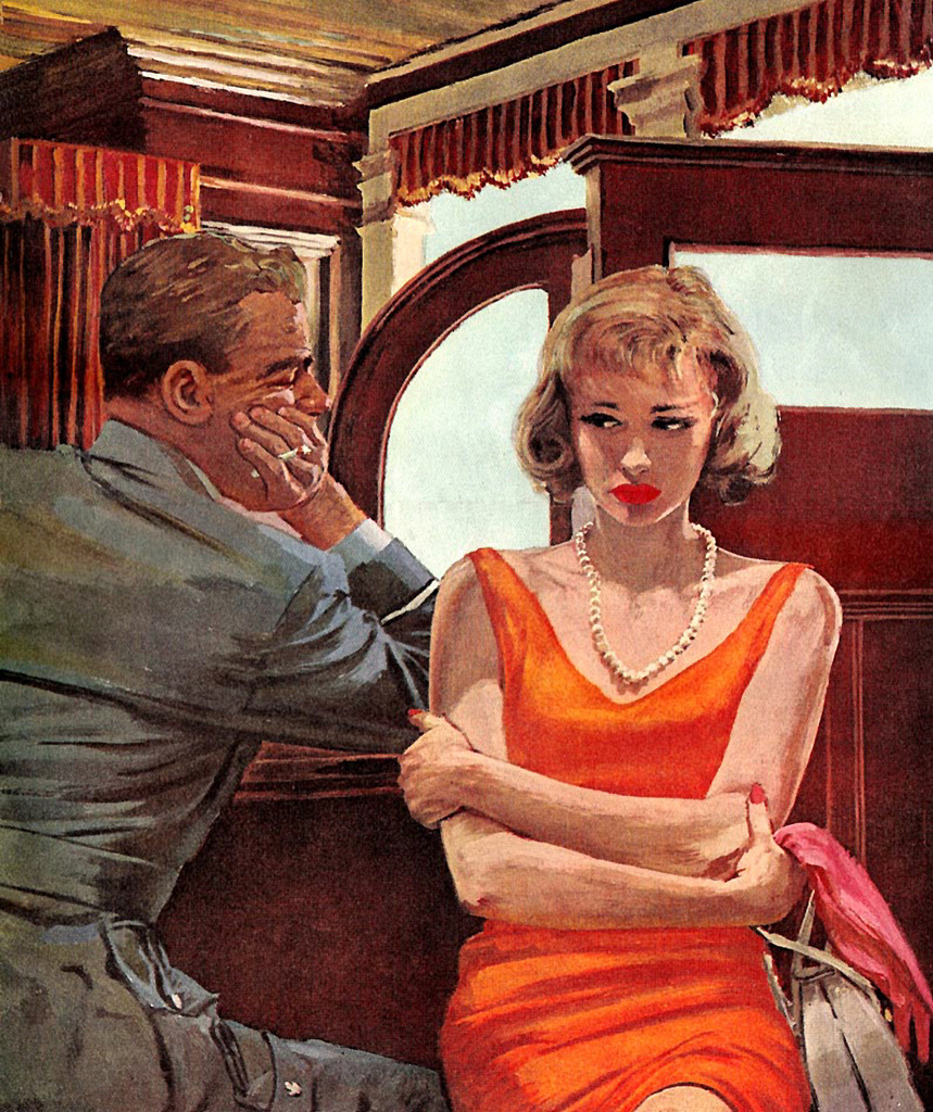 theniftyfifties:  Illustration by Austin Briggs for the Saturday Evening Post, April 1959.