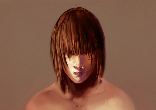 For Ejunknown on subeta. I'm just going to paint without lines from now on; much more liberating.