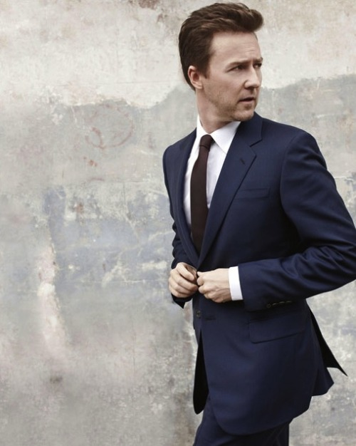 mensfashionworld:  Edward Norton by Lorenzo Agius for Menswear Magazine