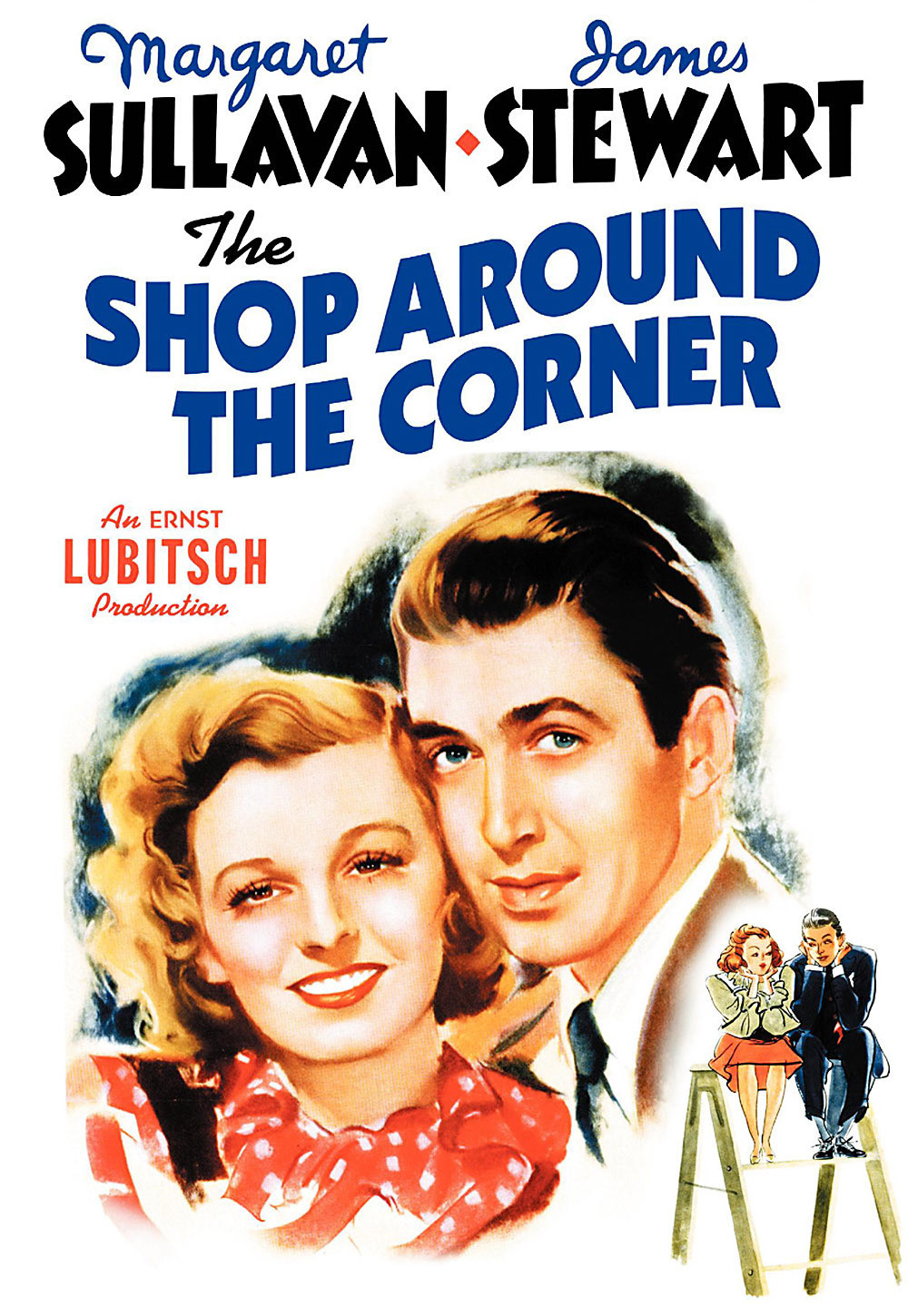 The Shop Around the Corner is a 1940 American romantic comedy film produced and directed by Ernst Lubitsch and starring James Stewart, Margaret Sullavan, and Frank Morgan.