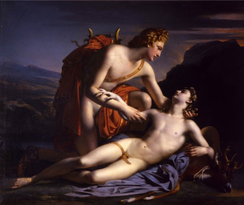 necspenecmetu:  Claude-Marie-Paul Dubufe, Apollo and Cyparissus, 1821