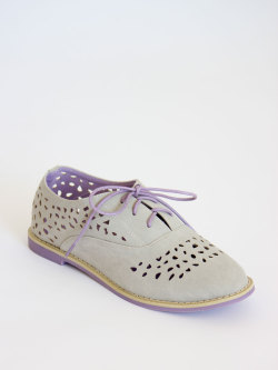 New summer kicks at MickeysGirl.com $55 http://mickeysgirl.com/accessories/gray-perforated-oxford-flats.html