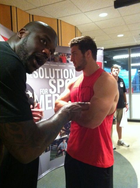jetstwit:  Shaq and Tebow at D1 Sports