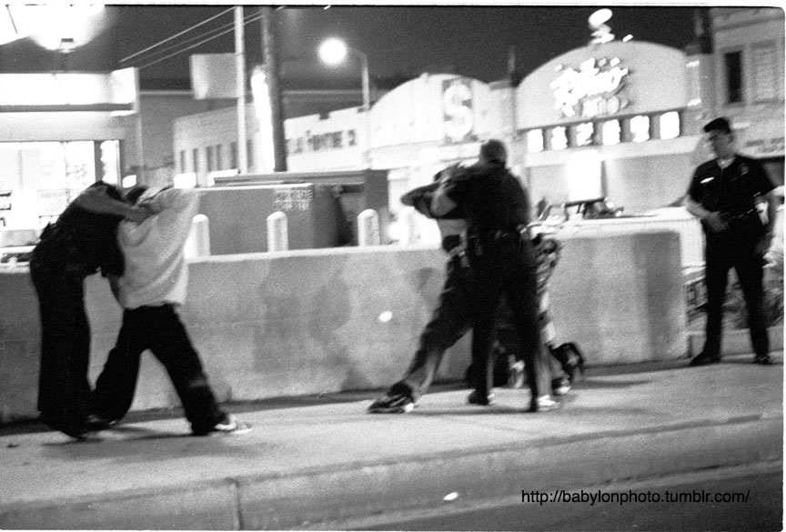 lapd bust, western ave, los angeles