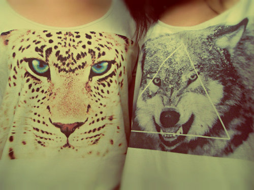 fashionoverhype:  cheetah and wolf @itsan @michelletraans