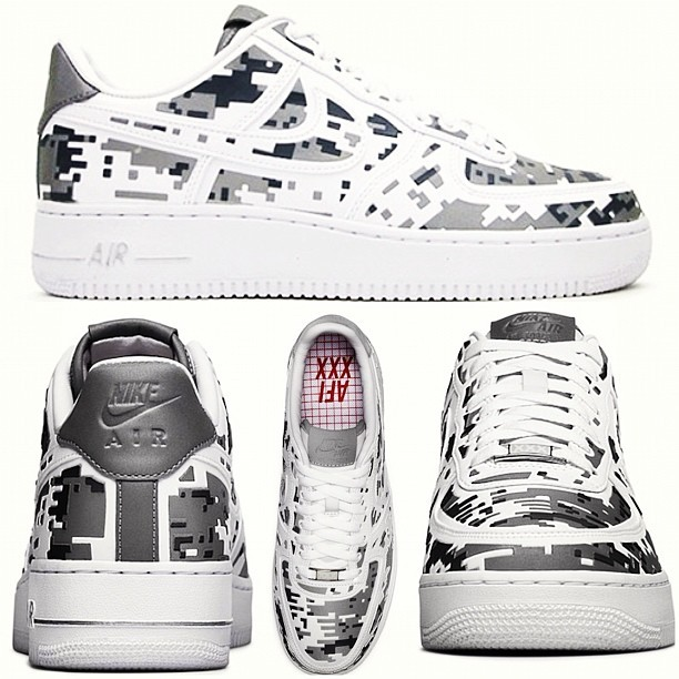 "Sneaker News: Nike releases the Digi Camo AF1… But what make them even more bad axx is these joints have camo ""reflectors"" (Taken with Instagram)"