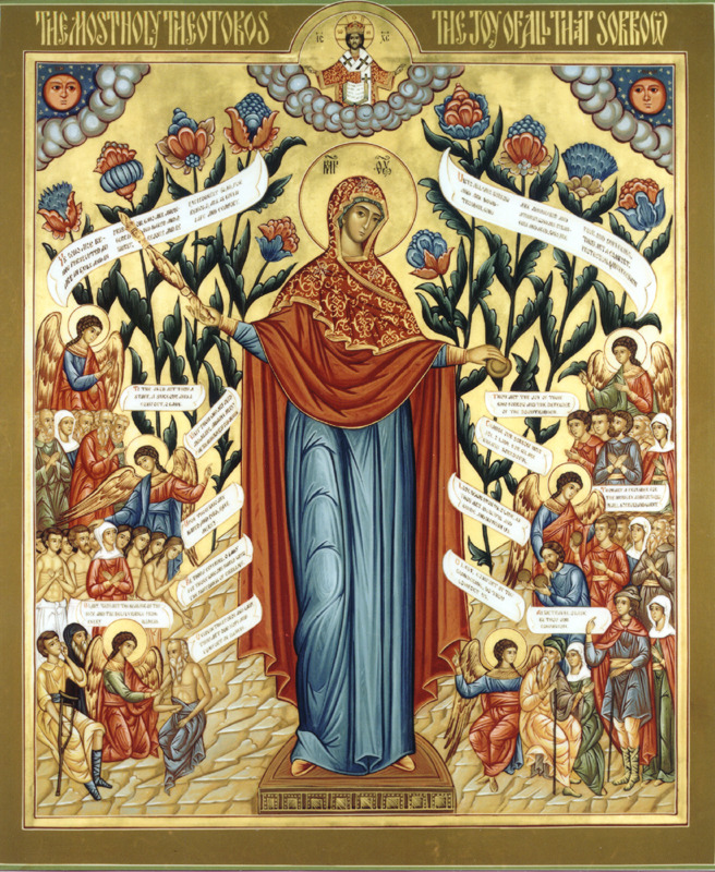 allaboutmary:  Most Holy Theotokos, Joy of all who Sorrow