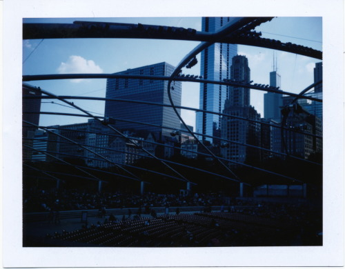 Pritzker Pavilion in Chicago's Millenium Park {Polaroid Land Camera 250, Fuji FP-100C}