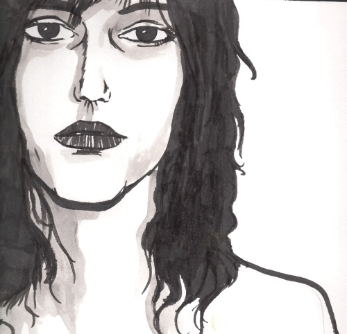 Patti Smith, ink sketch.