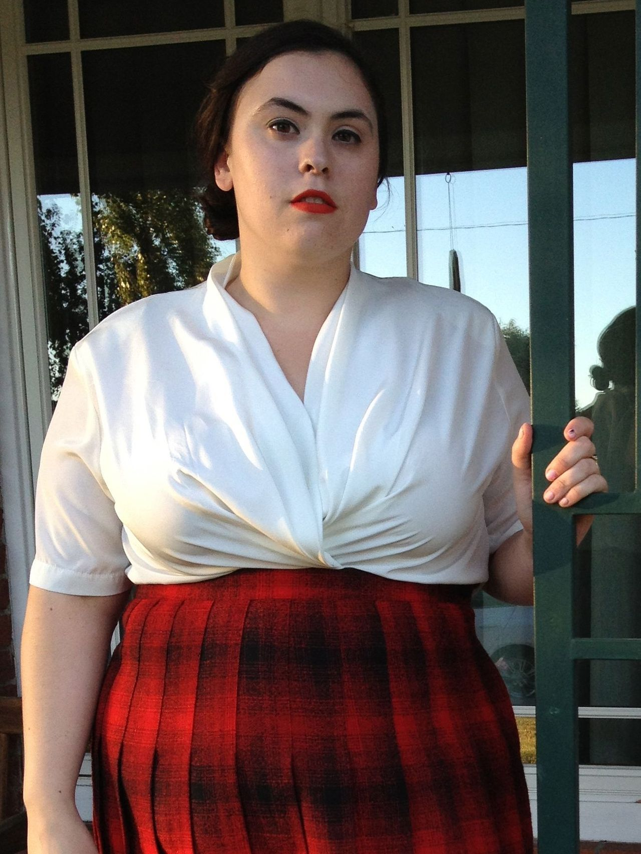 New Shop Item: Plus Size Vintage Drape Front Blouse Size 20 $20 / FREE SHIPPING! (US Domestic)