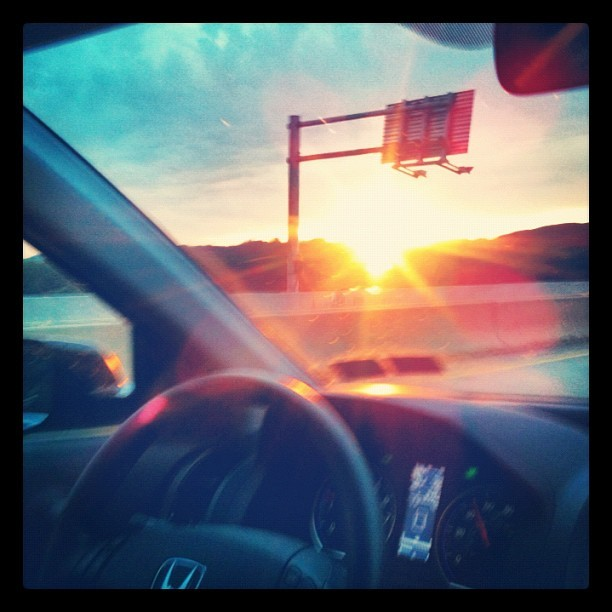 Sunset on 322 on the way home (Taken with Instagram)