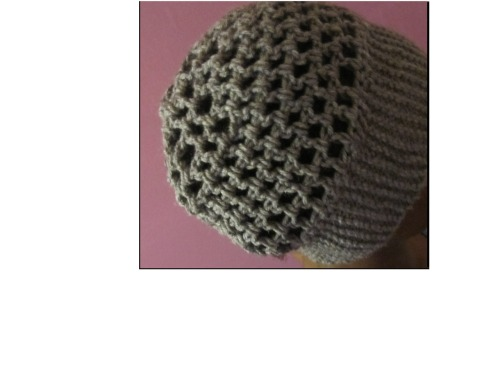 "New hat! This is a gray beanie with a knitted band and crocheted body. It's about 21"" around. Buy it here."