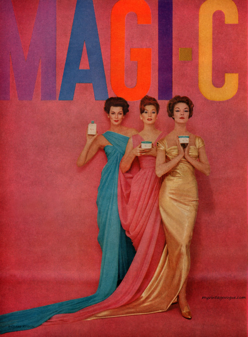 Magi-Care 1959 - photo by Richard AvedonCarmen Dell' Orefice, Suzy Parker & Jean Patchett