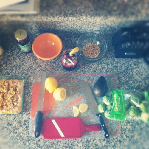 making dinner for the ladies. #marthastewart (Taken with Instagram)