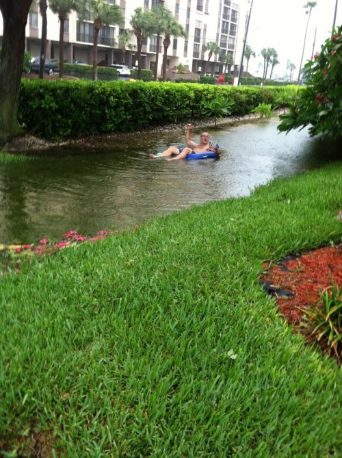 ircimages:  Just my dad enjoying this tropical storm