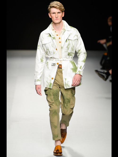 Vivienne Westwood Spring 2013 Menswear  I've never seen grass stains look so chic