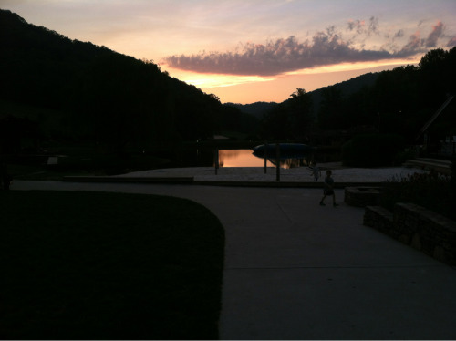 Sunset at Young Life Windy Gap.