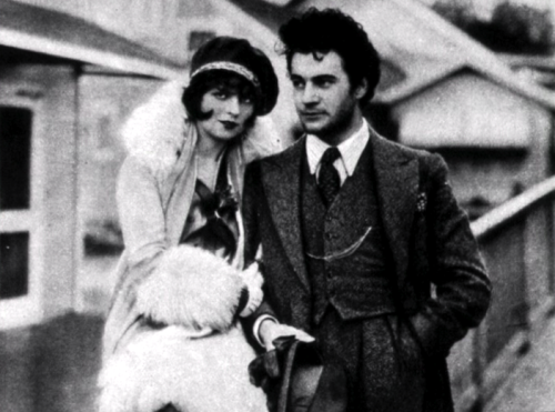 "clarabowarchive:  Fashionable Couple ☆ Clara Bow and Gilbert Roland ☆ The Plastic Age (1925) ☆ Screencap from Clara Bow: Discovering the ""It"" Girl ☆"