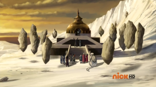 forever-makorra:  Can I take a moment to talk about that structure there? It's that shrine-looking thing at the end of LoK/episode 12 where Korra gives Lin her bending back.  That up there looks uncannily like a Buddhist stupa, a type of structure found throughout Asia that often houses relics of the Buddha and the bodhisattvas. There are are relic stupas, object stupas, commemorative stupas, symbolic stupas, and votive stupas, each having its own purpose. The first thing that's so very strange about it is that it's surrounded by large, standing rocks. And the second thing that's really strange about it is that Korra gives Lin back her bending at this specific spot.  It's in the middle of the South Pole. Why are there stones around it? Why is it colored with earthen tones, rather than the whites and blues of the Water Tribe?  That leads me to believe that it isn't just some random shrine. I personally have begun to think it's Toph's grave, a relic to her memory and probably where she's buried. That is, it is a stupa commemorative stupa (and perhaps even a relic stupa, if she is indeed buried there). And if that's the case, that makes Lin getting her bending back at that particular spot especially poignant and touching because Lin is the carrier of her mother's legacy and what better place to receive the greatest gift her mother gave her back?  There's also a few other things that are ridiculously striking about this. According to Wikipedia, there are 8 different kinds of stupas, each symbolic of a different moment in the Buddha's life. This stupa in particular is bell-shaped and has no extra ornamentation. That is supposedly symbolic of the Buddha's ascension to Nirvana.  The stupa is also supposed to represent the four elements in total harmony as well as enlightenment: the square base represents earth the dome represents water the spire (or the steps) represent fire the lotus on the top of the spire of the stupa represents air and the steps can be said to represent the ascension to enlightenment. And enlightenment in Korra's case (within context, of course)? Connecting with the Avatar Spirit and realizing that she is the Avatar and that no one can take that away from her. So whoa. You've got both Toph and Lin's relationship represented here, as well as Korra's realization of being the Avatar.  That's how Bryke intended to end the series. And damn, that's pretty mind blowing.  Seems legit, but I'm not so sure that Toph was buried in the South Pole..