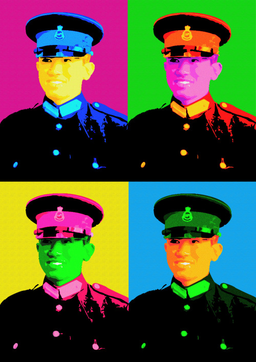 Pop-art of Prince Mateen, Brunei. Photo taken from Infofoto.