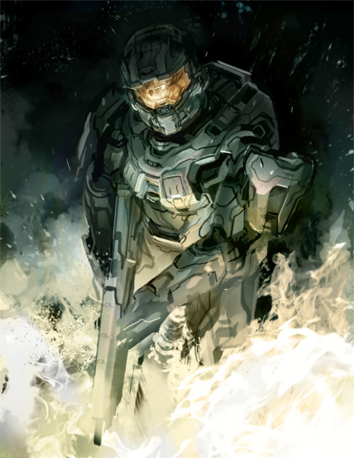 xombiedirge:  Return of Master Chief by Gabriel Garza