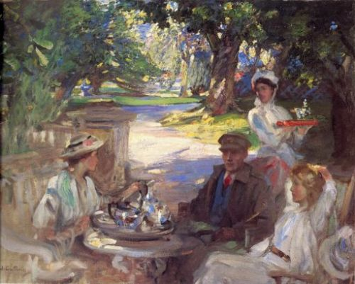 The Garden Party (1918) by James Guthrie