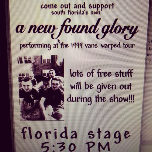 1999 we were a local band on warped tour #flashbacksunday  (Taken with Instagram)