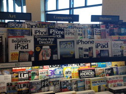 Proof Android is Winning. See bottom shelf. See a magazine about it.