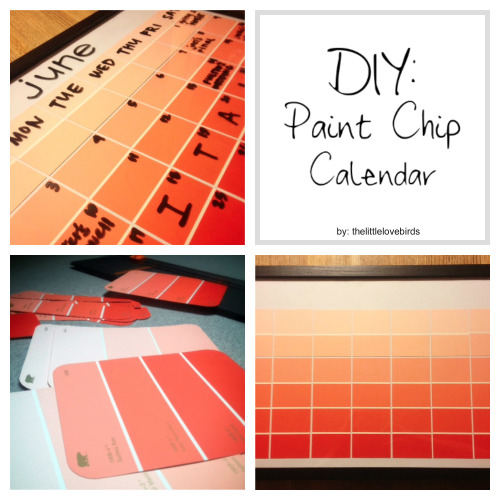 nailsxinfinity:  DIY: Paint Chip Calendar by thelittlelovebirds This is a simple and cheap DIY that you can use for years. The blogger stated it cost her a total of $3 to make! So get crafty! I may do this once the new year rolls around. (Only 5 months to go?)
