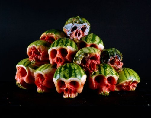 (via Fruits And Vegetables Carved Into Skull Shapes)