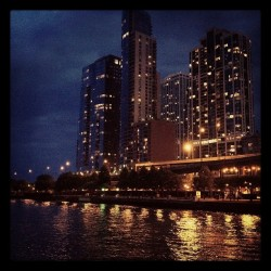 Downtown Chicago on the River by thatdavidgraham http://instagr.am/p/MR3ZHWKcoD/