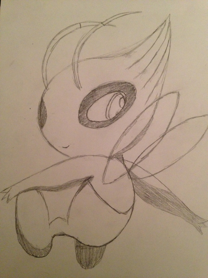 I got bored so I just started drawing Pokemon :P Look! It's Celebi!