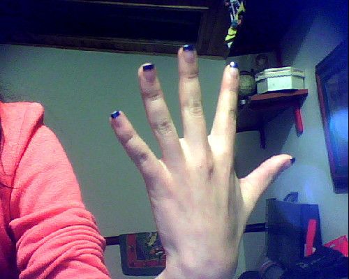 Nails Dark Blue!