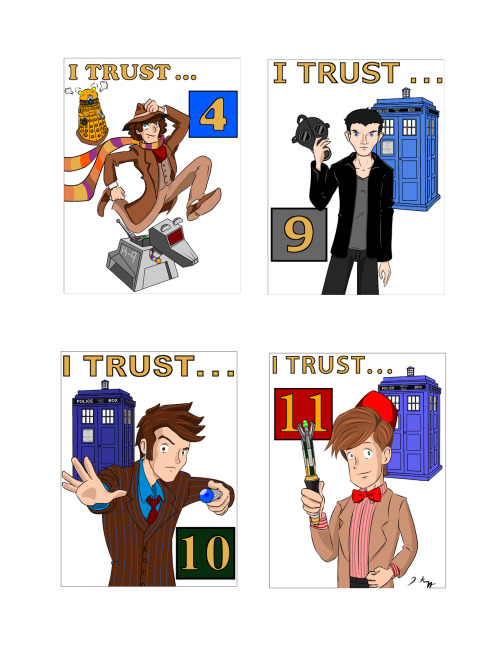 I Trust the Doctor —Complete Doctor Who Badge Set check my tumblr for bigger versions of each!