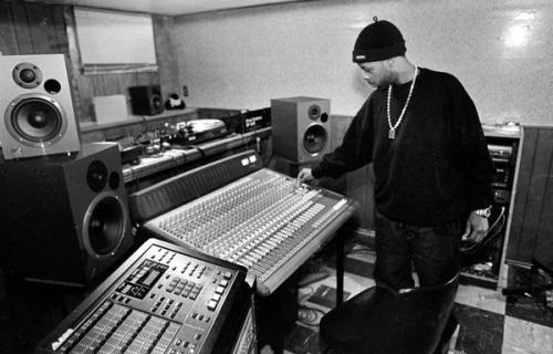 J Dilla in his basement studio.