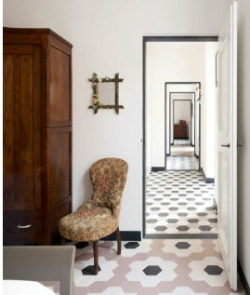 Great enfilade and tiles via Emma's Design Blogg.