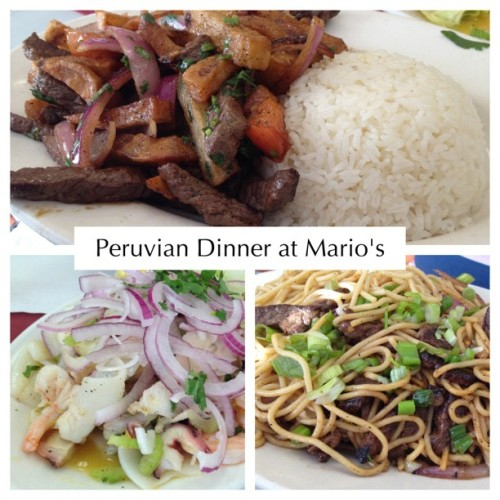 Dinner #foodiellblog #nom #peruvian #food (Taken with Instagram)