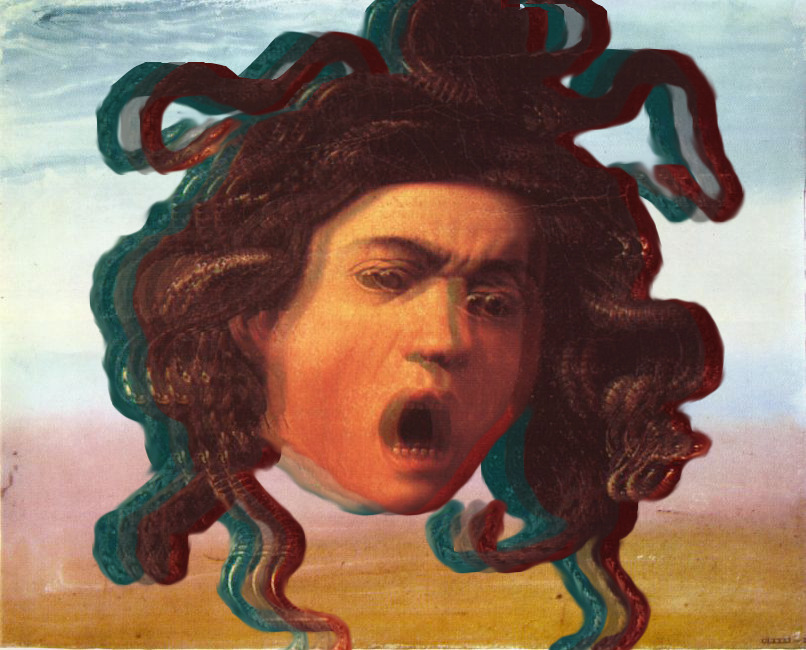 Medusa -2012 Original painting by Caravaggio.