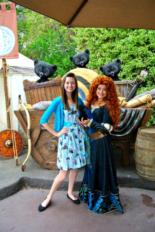 Merida loved my dress! <3