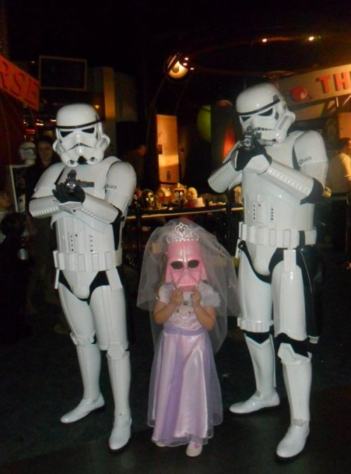 This Princess Vader melts my Hoth heart. via Fashionably Geek