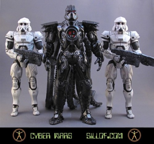 Sillof's released a cool new line of custom action figures that blend cyber punk and Star Wars. via Nerd Approved
