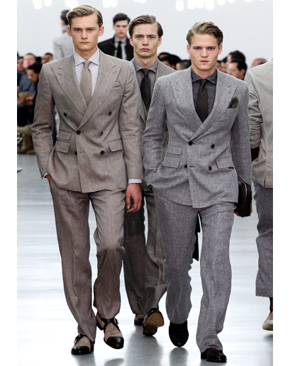 justplaidandsimple:  Milan Fashion Week: Corneliani Spring 2013