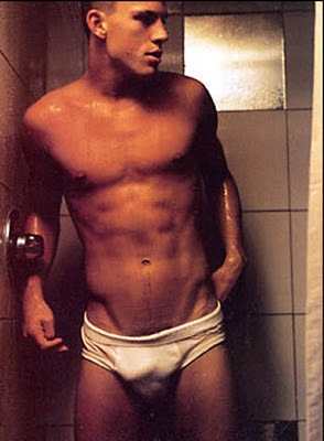 Channing Tatum in white briefs - What a bulge!