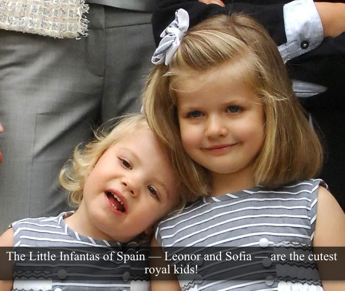 "[Post by Mary] ""The little Infantas of Spain (Leonor and Sofia) are the cutest royal kids! <3"" — Submitted by Anonymous"