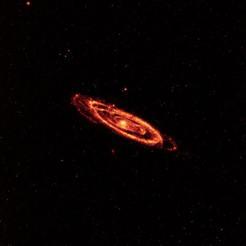 Andromeda in infrared