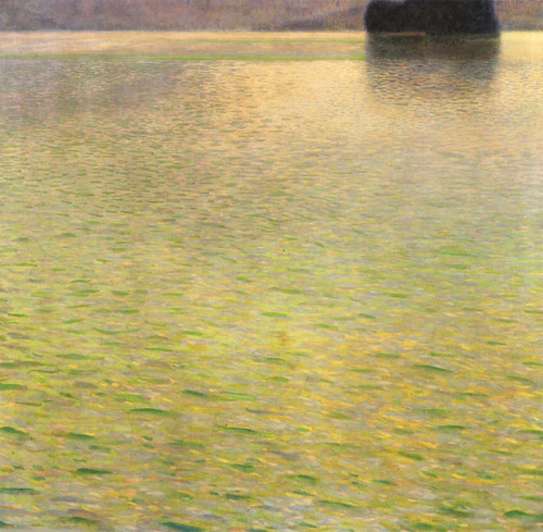 drenchedland:  Gustav Klimt, Island in the Attersee 1901