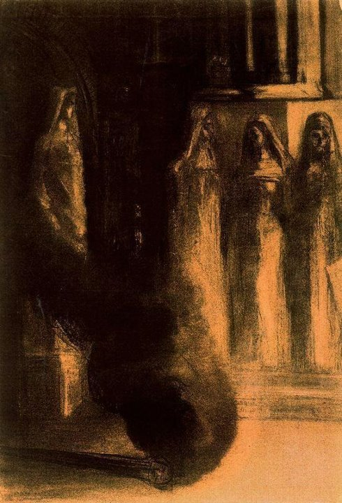 corinthian-girl:  Odilon Redon - The Black Torches