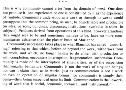 Jean-Luc Nancy, The Inoperative Community