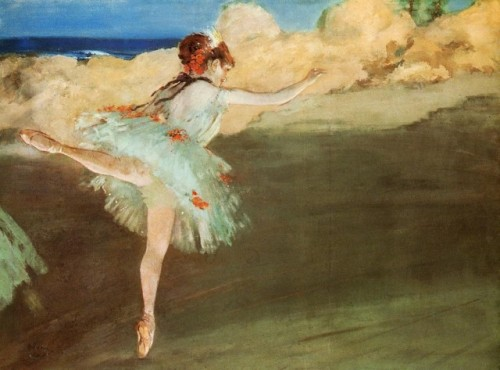 emilyanne-h:  Dancer on Pointe, Edgar Degas